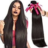 Armmu 9A Grade Straight 100% Unprocessed Human Hair Bundles Brazilian Hair 3 Bundles Hair Weft Remy Virgin hair Extensions Deals With Mixed Lengths(20″ 22″ 24″) For Sale