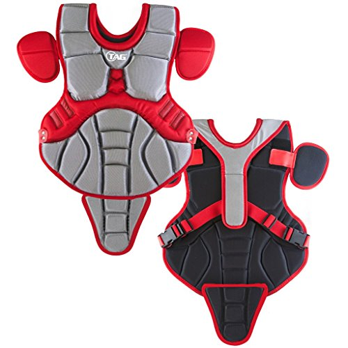 TAG Pro Series Youth Body Protector (Grey/Scarlet) ()