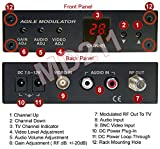 All-Channel NTSC Composite BNC/RCA Video Audio To RF Coax TV Modulator