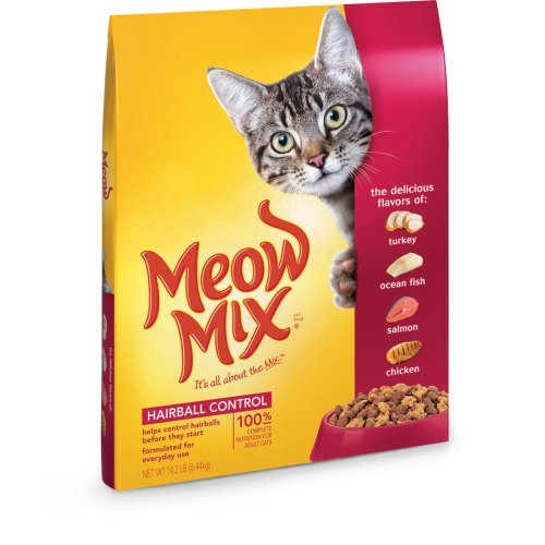 Meow Mix Hairball Control Dry Cat Food 14.2-Pound