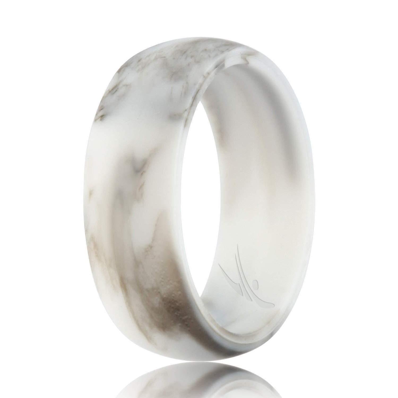 独特な シリコンウェディングリングメンズby 10 Roq手頃なシリコンゴムバンド Marble、7パック、4パック& Singles – 迷彩 Marble、メタルLookシルバー、ブラック、グレー、ライトグレー B07HG4FS4Q White, Black Marble 9.5 - 10 (19.8mm) 9.5 - 10 (19.8mm)|White, Black Marble, 松崎町:eeba1e8e --- beyonddefeat.com