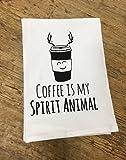 Funny Dishcloth/ Tea Towel ~ Coffee is My Spirit Animal ~ Funny Kitchen Cloth.