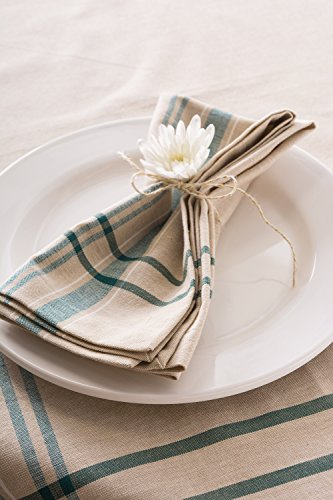 DII 100% Cotton, Machine Washable, Everyday French Stripe Kitchen Tablecloth for Dinner Parties, Summer & Outdoor Picnics - 60x84 Seats 6 to 8 People, Teal by DII (Image #5)