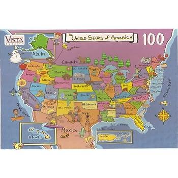 Amazon.com: USA Map Puzzle-100 Pieces: Toys & Games