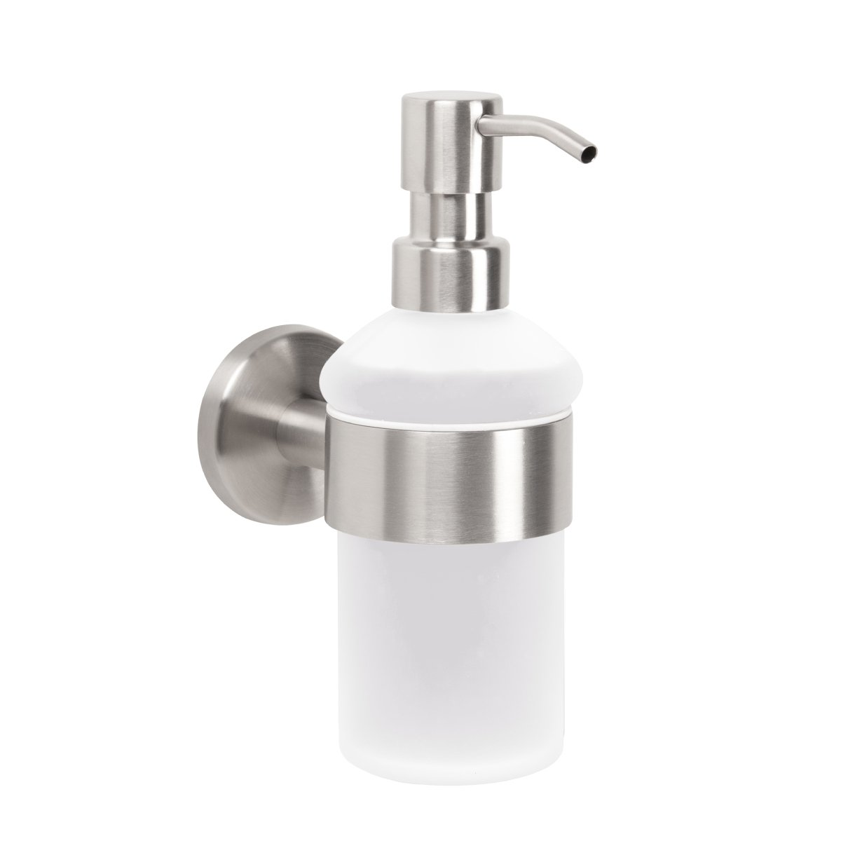bremermann reg; PIAZZA bathroom series – soap dispenser made of glass and stainless steel, matte 9418