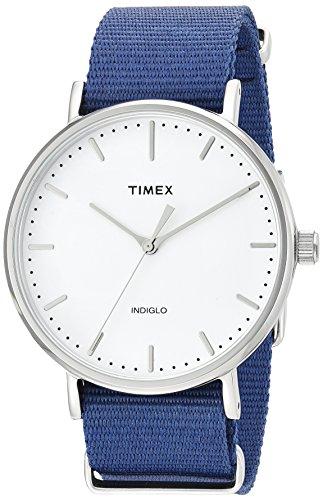 Timex Unisex TW2P97700 Fairfield 41 Blue Nylon Slip-Thru Strap Watch from Timex