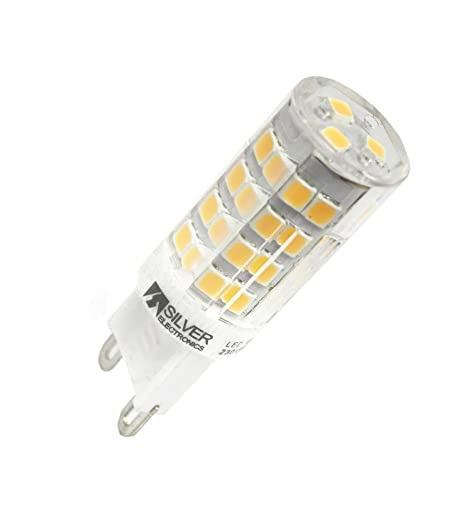Silver Electronics 130430 Bombilla LED 3000K, 3.5 W, Transparente, 5 x 1.6 x