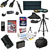 47th Street Photo Must Have Accessory Kit for the Canon 1100D, Rebel T3 - Kit Includes: 32GB High-Speed SDHC Card + Card Reader + Extra Battery + Travel Charger + 58MM 3 Piece Pro Filter Kit (UV, CPL, FLD Lens) + HDMI Cable + Padded Gadget Bag + Remote Control + Professional 60 Tripod + Lens Cleaning Pen + Stabilizing Handgrip Strap + Cleaning Kit + DSLR Camera Intro DVD Photo Print + More