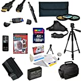 47th Street Photo Must Have Accessory Kit for the Canon 1100D, Rebel T3 - Kit Includes: 32GB High-Speed SDHC Card + Card Reader + Extra Battery + Travel Charger + 58MM 3 Piece Pro Filter Kit (UV, CPL, FLD Lens) + HDMI Cable + Padded Gadget Bag + Remote Co