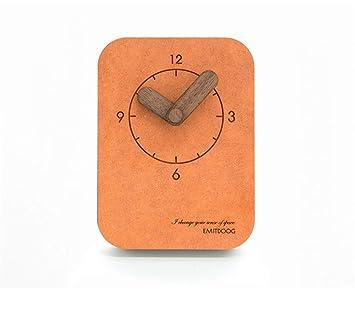 Pmrioe Reloj De Péndulo Americano De Sobremesa Relojes Europeos Relojes De Sobremesa Relojes De Sala De Estar Reloj Infantil Creativo De Péndulo - Naranja: ...