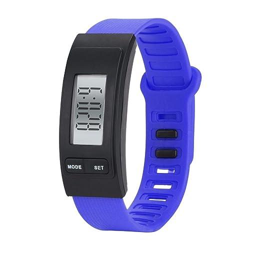 Relojes Unisexo,❤LMMVP❤ Correr paso reloj pulsera podómetro contador de calorías digital LCD