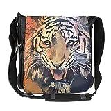 SARA NELL Messenger Bag,africa Wild Tiger,Unisex Shoulder Backpack Cross-body Sling Bag