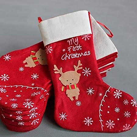 Topanke Juego de 4/Navidad calcet/ín Bolsa Alce 35/m x 30/cm Navidad calcet/ín para decoraci/ón de Navidad Reno Christmas Stocking