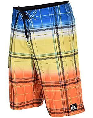 Men's Boardshorts Cypher Wonderland Blue Orange Yellow Plaid