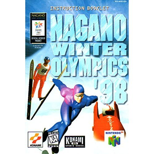 Nagano Winter Olympics 98 N64 Instruction Booklet (Nintendo 64 Manual Only - NO GAME) [Pamphlet only - NO GAME INCLUDED] Nintendo