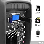 Pyle PPHP1037UB Powered Active PA Loudspeaker Bluetooth System with Microphone - 10 Inch Bass Subwoofer and Built-in USB for MP3 Amplifier - DJ Party Portable Sound Equipment Stereo Amp Sub for Concert Audio or Band Music from PYLE-PRO