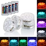 Aksipo 4 Pack Submersible LED Lights with