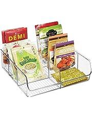 mDesign - Voorraadbak - opbergbak/keukenorganizer - voor specerijen, potjes, pakjes en meer - met 6 compartimenten - doorzichtig