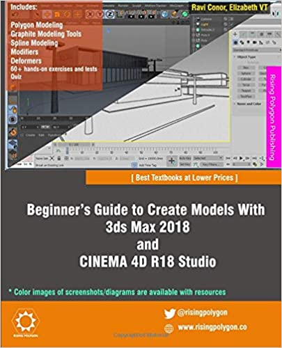 Amazon com: Beginner's Guide to Create Models With 3ds Max 2018 and