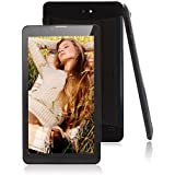 "JYJ 7"" Zoll Tablet PC MTK8312 WCDMA 2G + 3G Google Android 4.4 Handy Phablet Dual Core Kamera Bluetooth GPS HD Kapazitiver Schirm WiFi 8GB (Schwarz)"