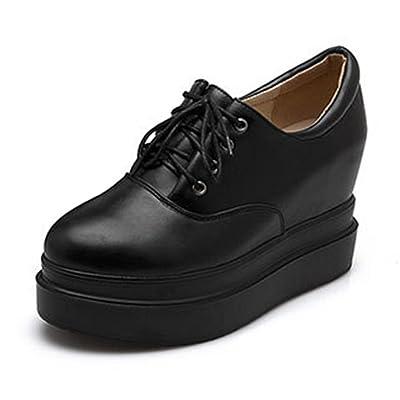 Aisun Femme Confortable Chaussures de Ville à Lacets Basse Derbies
