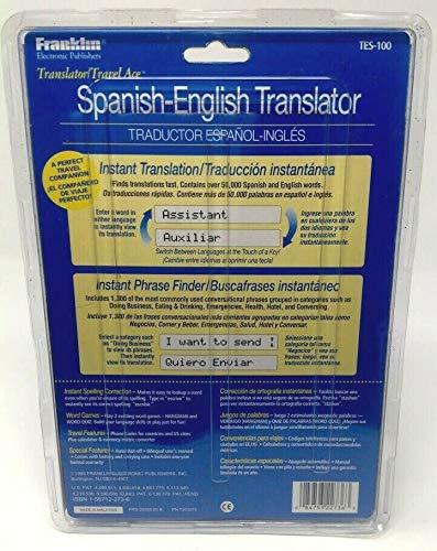 Rare Franklin TES-100 English Spanish Electronic Travel Translator New