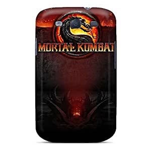 Adlazquez NUackeA1182hRGpG Case Cover Galaxy S3 Protective Case Mortal Kombat Logo