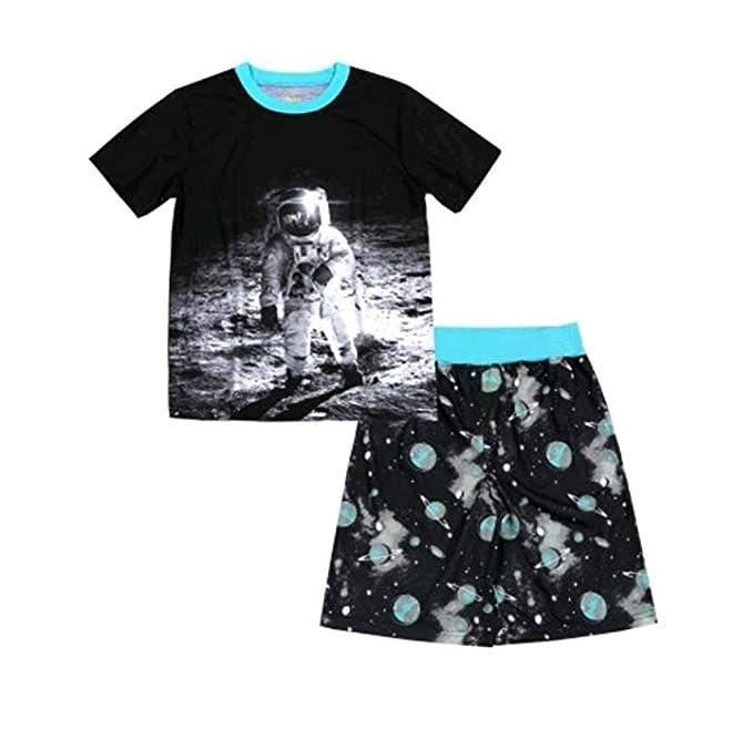 ae9da14f38 Amazon.com  Wonder Nation Boy s 2 Piece Pajama Sleepwear Set (Small ...