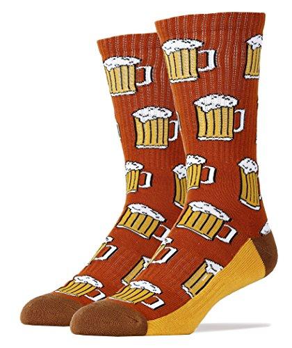 Oooh Yeah Socks Men's Luxury Combed Cotton Athletic Funny (Beer Me! browen)