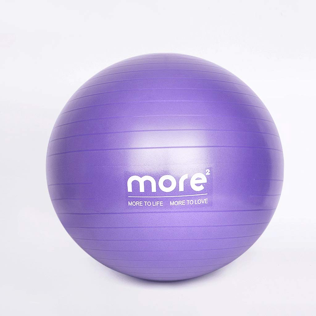 Light purple 55CM Fitness Yoga Ball Thickened ExplosionProof Beginners Pregnant Women Special Midwifery Yoga Slimming Big Ball Weight Loss Female