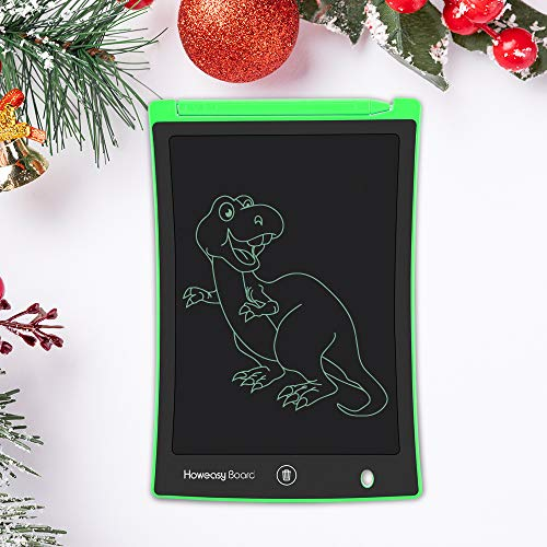 LCD Writing Tablet, Howeasy Board 8.5 Inch Electronic Drawing and Writing Board for Kids & Adults, Handwriting Paper Doodle Pad for School and Office (Green) -