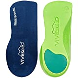Best Walking Shoes For Plantar Fasciitis - Orthotic Shoe Inserts by Vivesole - 3/4 Insole Review