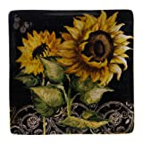 Certified International French Sunflowers Square Platter, 12.5-Inch