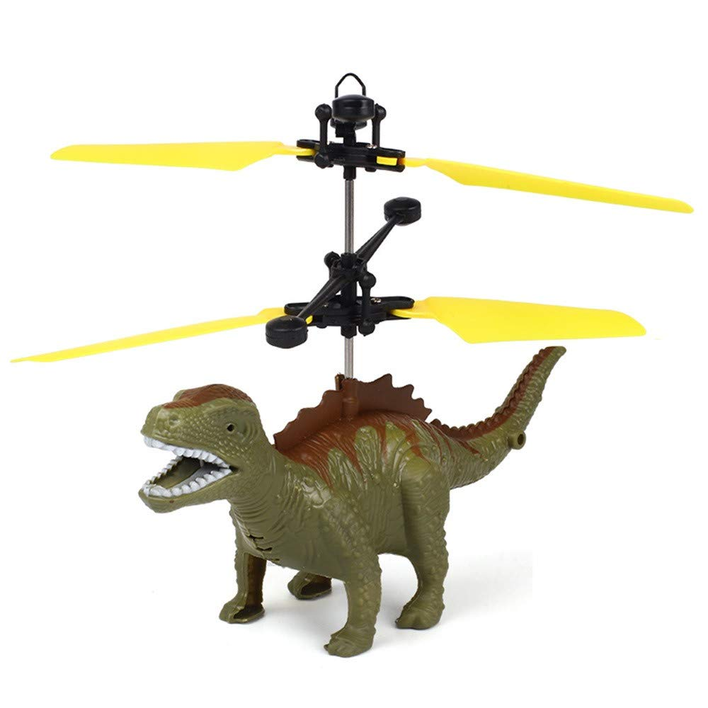 Kid Toys Sale!! Hand Flying Dinosaur LED Mini Induction Suspension RC Aircraft Flying Toy Drone (a) Singular-Point