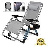 Denbi Massage Relax Portable Zero Gravity Chair Folding Recliner...