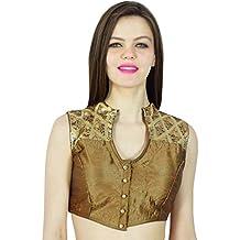 Phagun Party Wear Designer Dense Sequins Ready- Made Dupion Silk Blouse