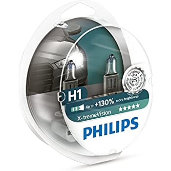Certified Refurbished Philips X-treme Vision up to 130/% Headlight Bulbs H1 55W