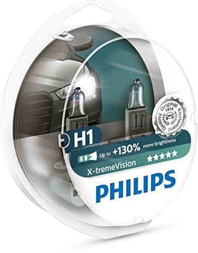 (Philips X-treme Vision up to 130% Headlight Bulbs H1 55W )