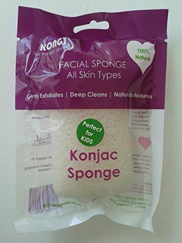 kongy la esponja de konjac – El original – para Kids (100% Natural,