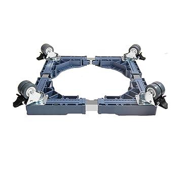 Soporte base Qiangzi Ajustable Dispositivo Universal Móvil Rueda Appliance Roller Secadores Secadoras Neveras 500KG De Carga para la Cocina del Cuarto de ...