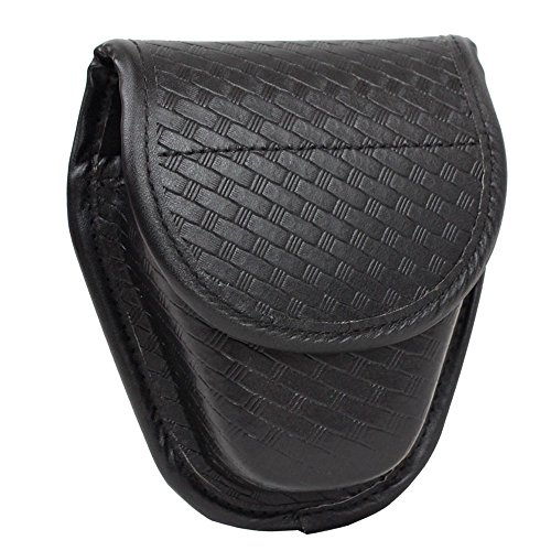 (TTGTACTICAL Molded Double Basketweave Handcuff Pouch Hidden Snap Cuff Case)