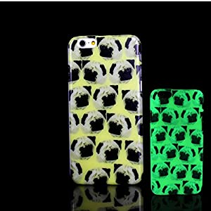 For iPhone 7 Plus Case, Glow in the Dark Pug Dog Pattern TomCase Fluorescent Back Cover for iPhone 7 Plus Case 5.5 inch, P21