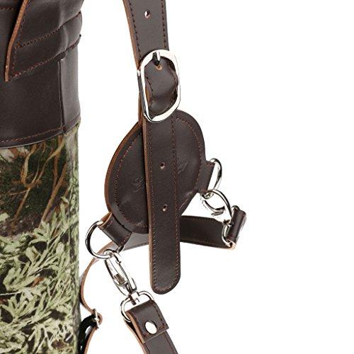 Traditionell PU-Leder Zurück Bogenschießen Bogenpfeil Köcher Halterbeutel Tarnung