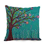 throw pillow covers of Tree 12 x 20 inches / 30 by 50 cm,best fit for pub,gf,gril friend,home theater,dinning room twice sides