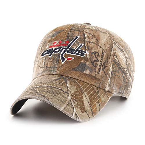 OTS NHL Washington Capitals Realtree Challenger Adjustable Hat, Realtree Camo, One Size