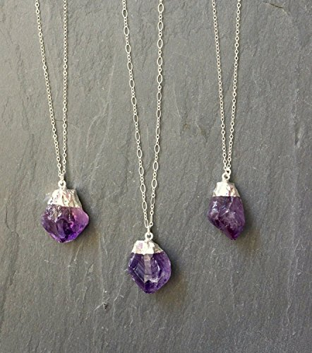 Amazon amethyst necklace handmade aloadofball Choice Image