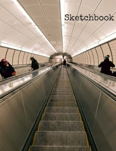 """Download Sketchbook: 8.5 x 11 Large Sketchbook, """"Underground Escalator"""" Soft Matte finish cover, Drawing Book, Blank Writing Book, Legal Size Notebook, A4 ... with No Lines (New York Shots) (Volume 10) pdf"""