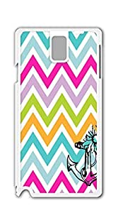 Design Hard Customized case Of case for samsung galaxy note 3 3d - Anchors jagged color