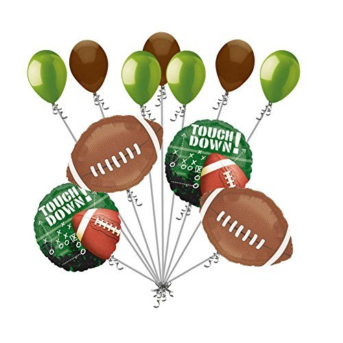 11 pc Football Frenzy Balloon Bouquet Decoration Foot Ball Happy Birthday Sports