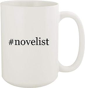 #novelist - 15oz Hashtag White Ceramic Coffee Mug
